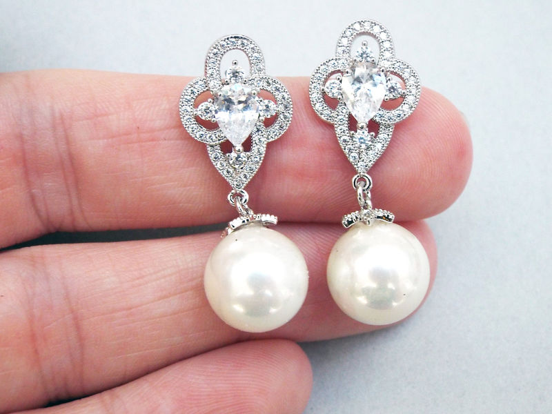Mary Bridal Earrings  - product image