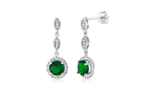 Eleanor,Bridal,Earrings,Weddings,Jewelry,emerald_earrings,bridal_earrings,wedding_earrings,bridal_jewelry,wedding_jewelry,crystal_cz_earrings,drop_earrings,chandelier_earrings,bridesmaids_earrings,bridesmaids_jewelry,wedding_jewellry,green_stone_earrings,silver_earrings