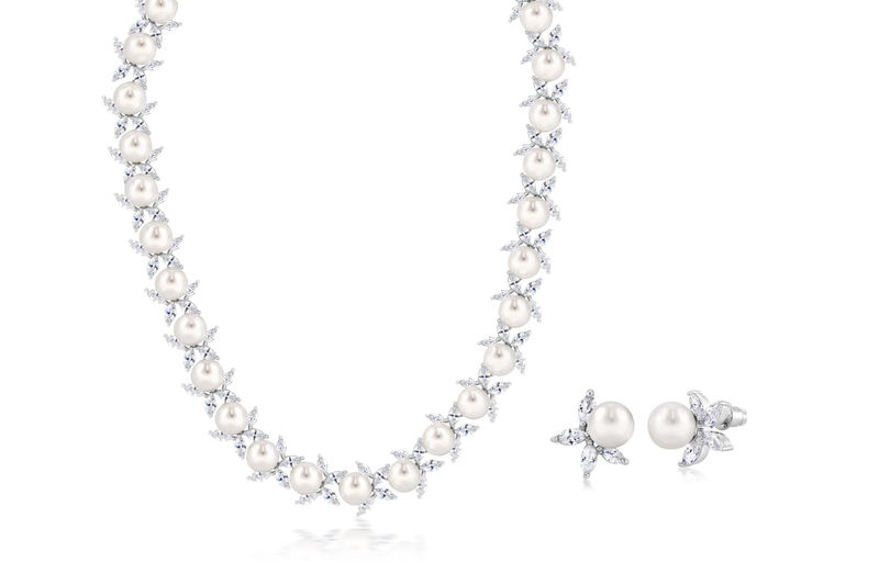 Alicia Bridal Necklace Set  - product image