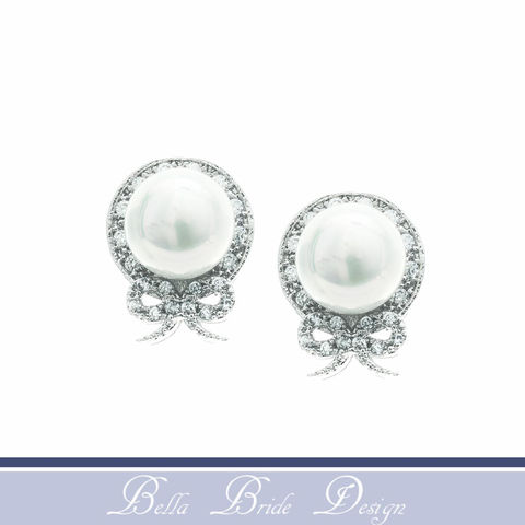 Ellen,Bridal,Earrings,Weddings,Jewelry,bridal_earrings,wedding_earrings,wedding_jewelry,bridal_jewelry,crystal_earrings,pearl_earrings,bridesmaids_earrings,cz_earrings,white_gold_earrings,pearl_bridal_earring,zirconia_earrings,cz_jewelry,stud_earring