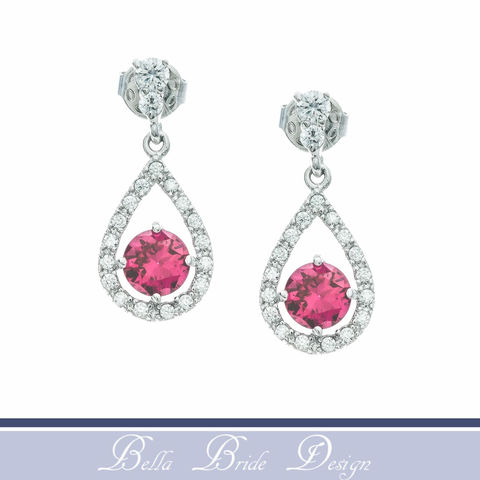 Rose,Bridal,Earrings,Weddings,Jewelry,rhinestone_earrings,wedding_earrings,crystal_earrings,bridal_earrings,bridal_jewelry,wedding_jewelry,pink_crystal_earring,light_pink_earrings,pink_earrings,CZ_earrings,white_gold_earrings,bridesmaid_earrings,cz_jewelry