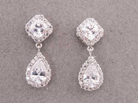 Mia Bridal Earrings Weddings Jewelry Crystal Statement Earring