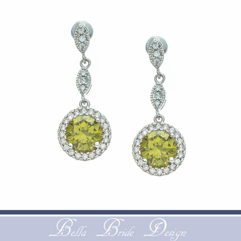 Khloe,Bridal,Earrings,Weddings,Jewelry,citrine_earrings,green_bridal_earring,bridal_earrings,bridal_jewelry,wedding_earrings,wedding_jewelry,cz_earrings,crystal_earrings,dangle_earrings,bridesmaids_earrings,zirconia_earrings,green_earrings,drop_earrings