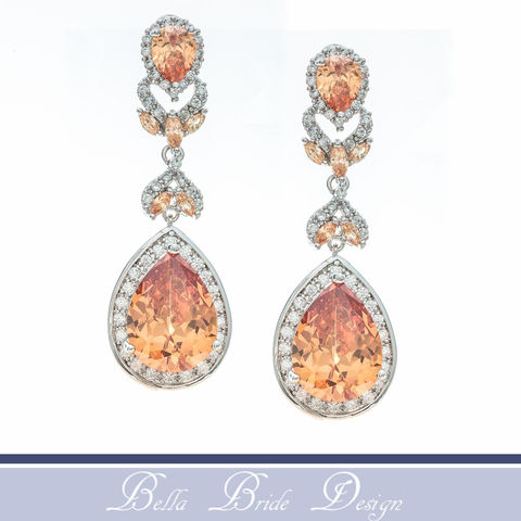 Anastasia,Bridal,Earrings,Weddings,Jewelry,bridal_earrings,wedding_earrings,bridal_jewelry,wedding_jewelry,white_gold_earrings,bridesmaids_earrings,rhinestone_earrings,chandelier_earrings,statement_earrings,cz_bridal_earrings,crystal_earrings,peach_bridal_earring,orange_earrings,c
