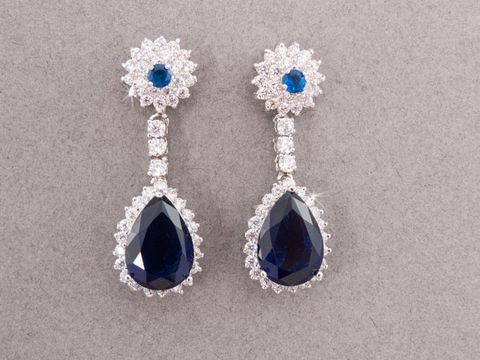 Lillian,Bridal,Earrings,Weddings,Jewelry,Sapphire_Earrings,Rhinestone_Earrings,Crystal_Earrings,Bridal_Earrings,Wedding_Earrings,Statement_Earrings,Bridal_Jewelry,Blue_Earrings,Silver_Earrings,White_Gold_Earrings,bridesmaids_earrings,swarovski_earrings,blue_bridal_earrings
