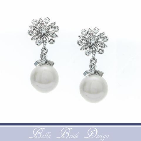 Genevieve,Bridal,Earrings,Weddings,Jewelry,rhinestone_earrings,chandelier_earrings,crystal_earrings,white_gold_earrings,bridal_earrings,wedding_earrings,pearl_earrings,pearl_stud_earring,CZ_earrings,bridal_jewelry,pearl_bridal_jewelry,bridesmaids_earrings,crystal_drop_earring