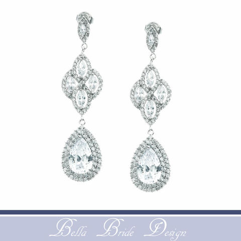 Vivienne,Bridal,Earrings,Weddings,Jewelry,bridal_earrings,wedding_earrings,wedding_jewelry,crystal_earrings,rhinestone_earrings,white_gold_earring,chandelier_earrings,bridesmaids_jewelry,crystal_drop_earring,bridesmaid_earrings,statement_earring,zircon_earring,drop_earring