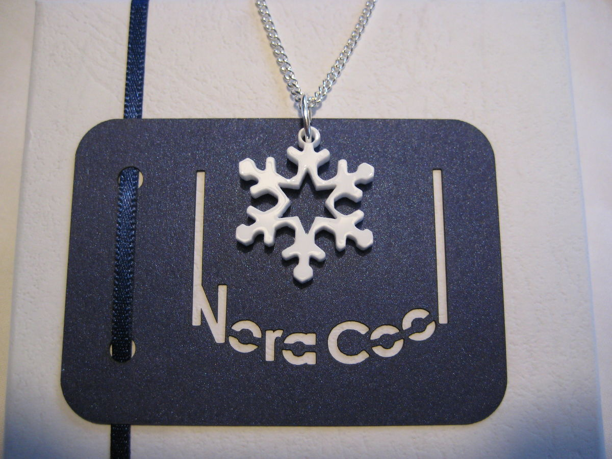 Acrylic snowflake necklace and earring set ice blue - frozen style FREEPOST UK - product images  of