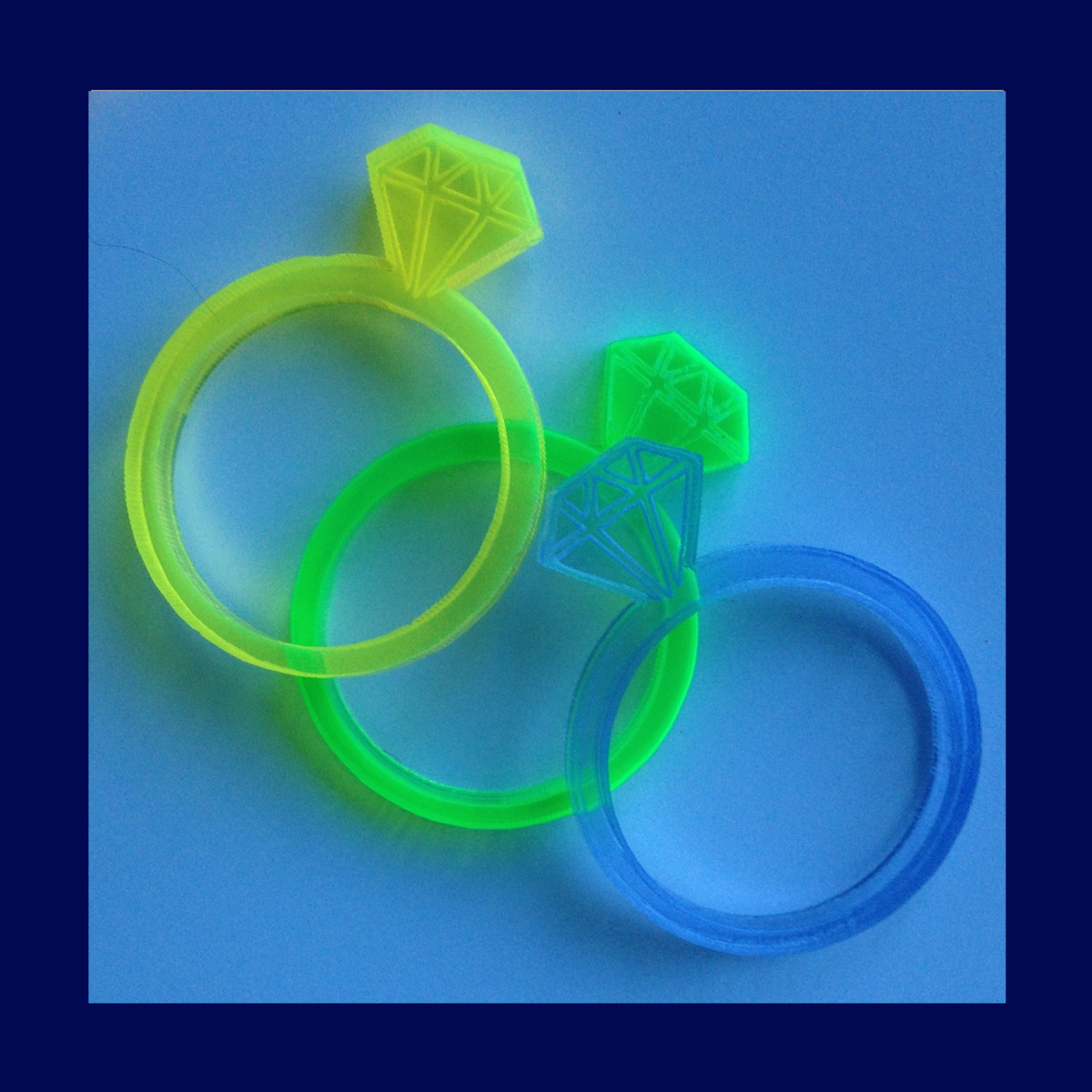 Proposal ring in fluorescent acrylic FREEPOST UK - product images  of