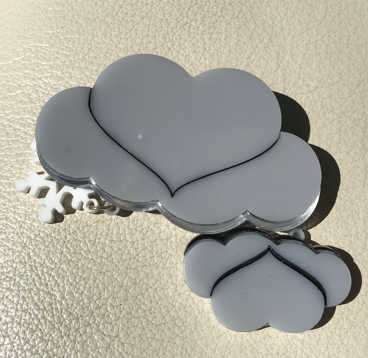 Snow Cloud Brooch FREEPOST UK - product images  of