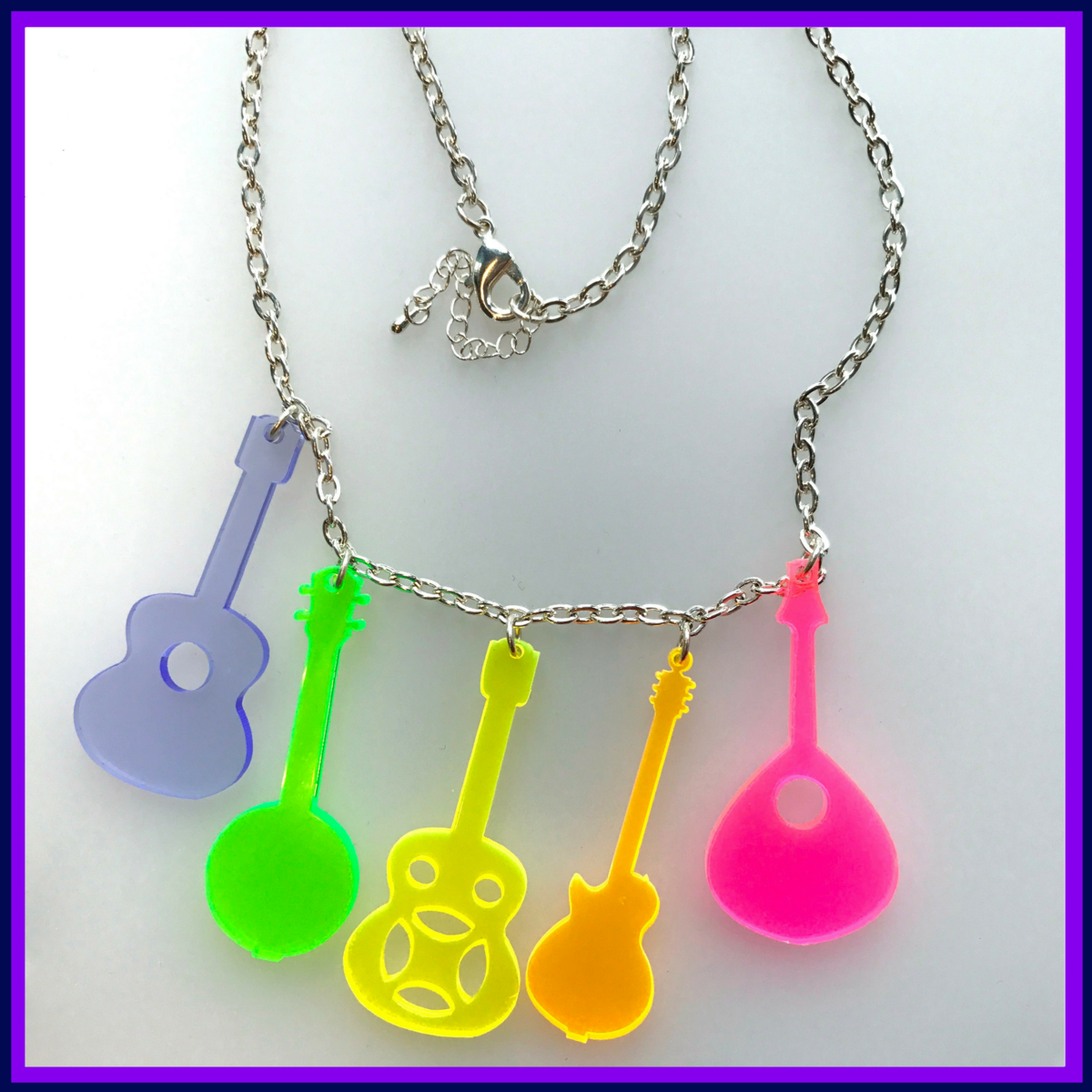 Country Music Neon Acrylic Statement Necklace 5
