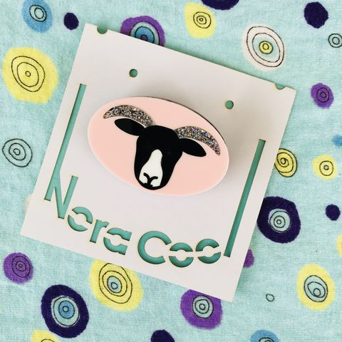 Sheep,Face,Brooch,FREEPOST,UK,Sheep cameo brooch, acrylic sheep brooch, Northumberland gift