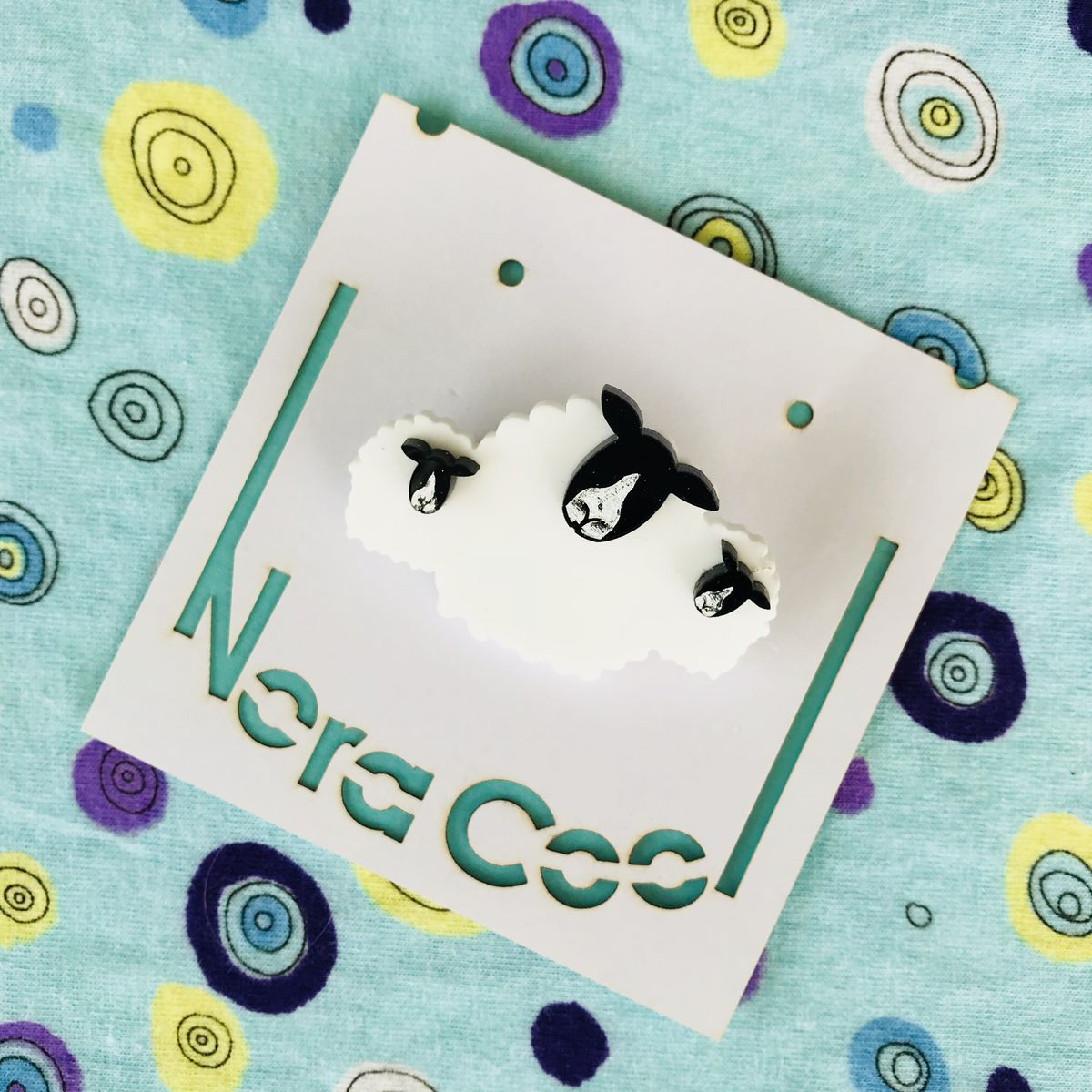 Sheep Family Layered Acrylic Brooch FREEPOST UK - product images  of