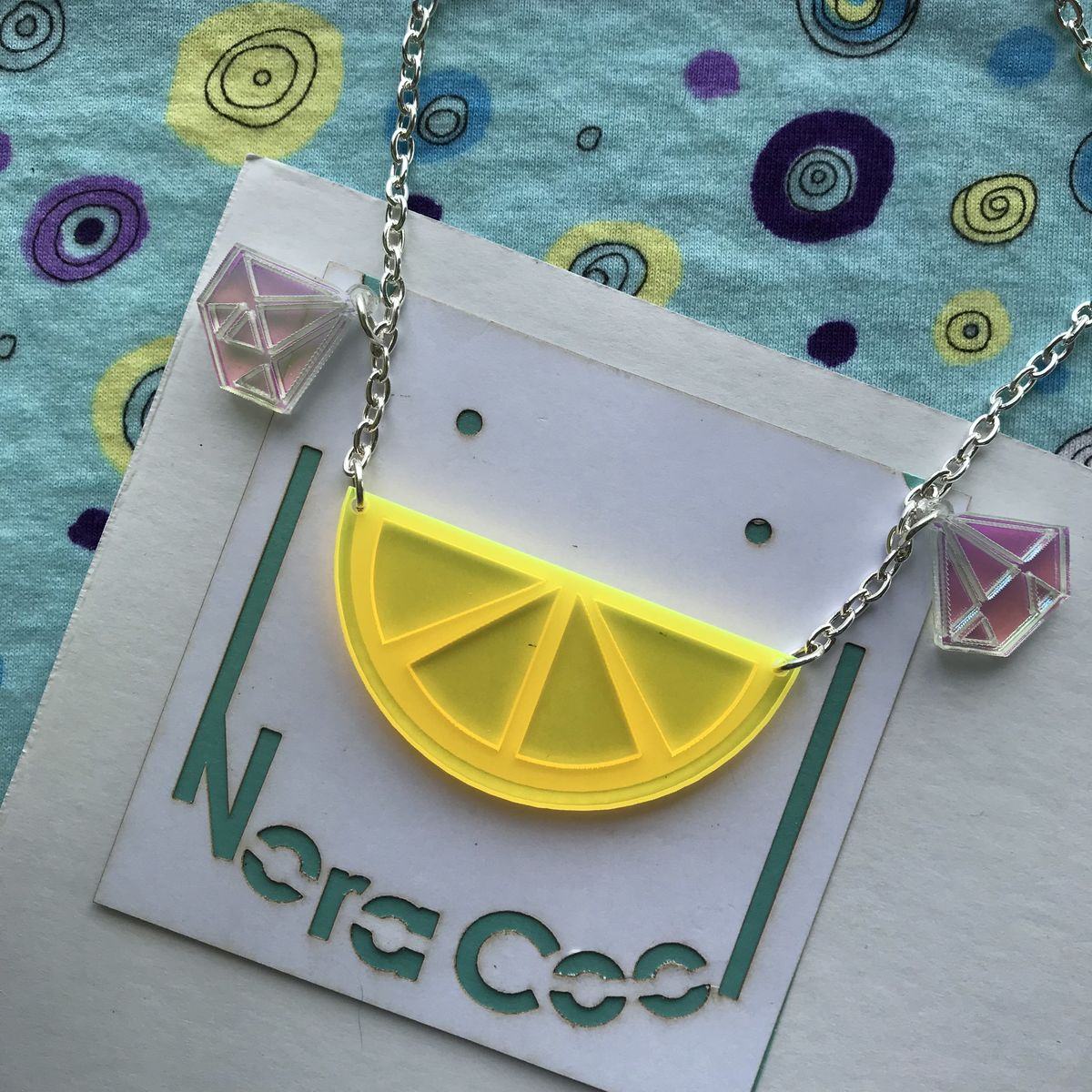 Ice and a Slice Statement Necklace FREEPOST UK - product images  of