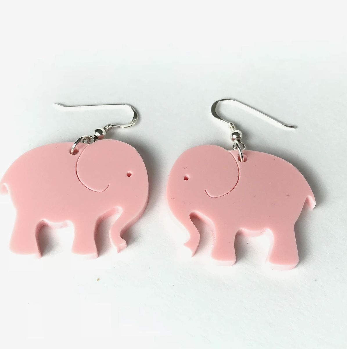 Pink elephant statement earrings FREEPOST UK - product images  of