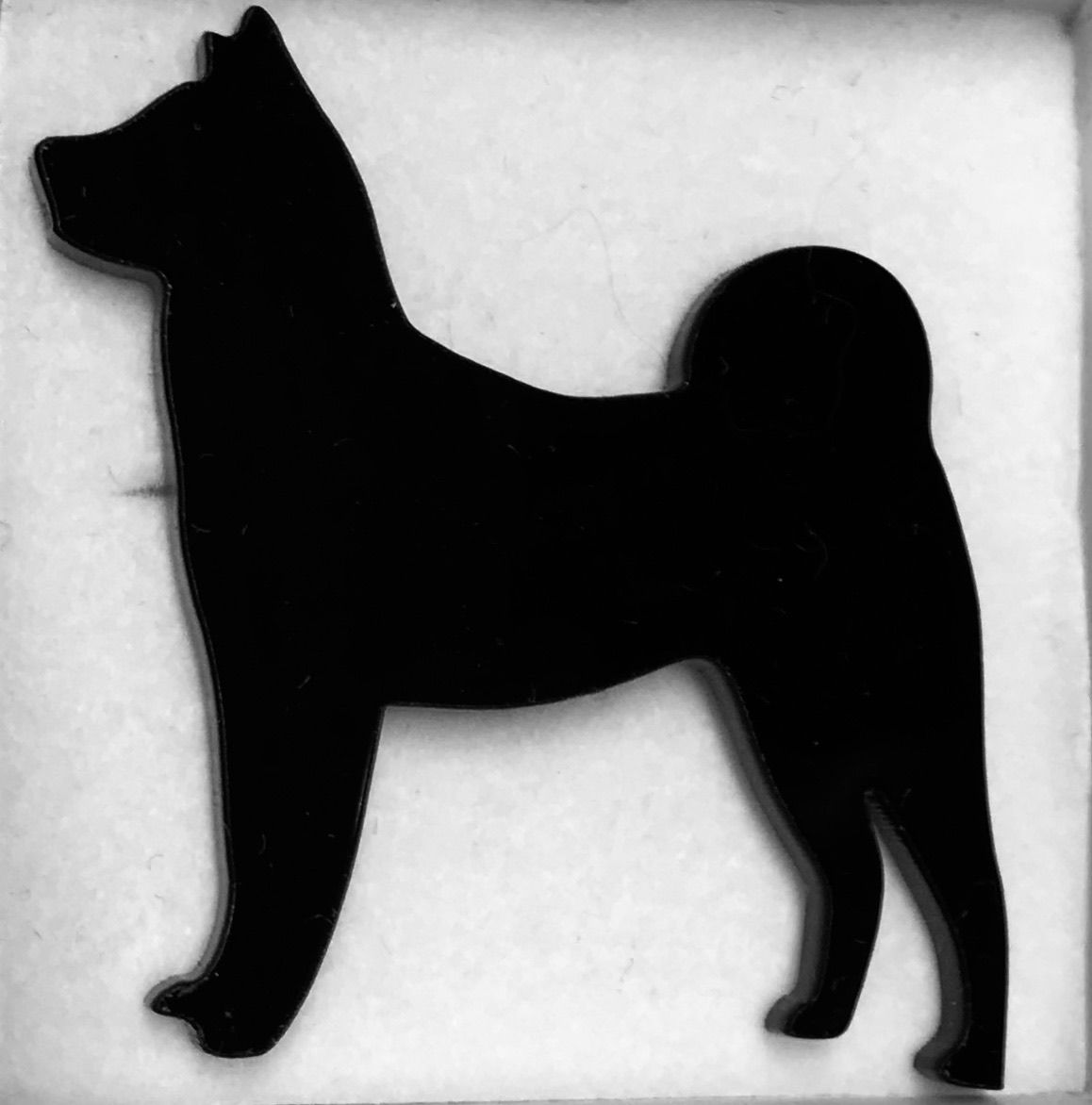 American Akita silhouette brooch/pin UK FREEPOST - product images  of