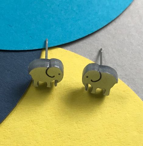 Tiny,Elephant,Earrings,Tiny elephant studs, pink elephant earrings, silver elephant earrings, elephant earrings,