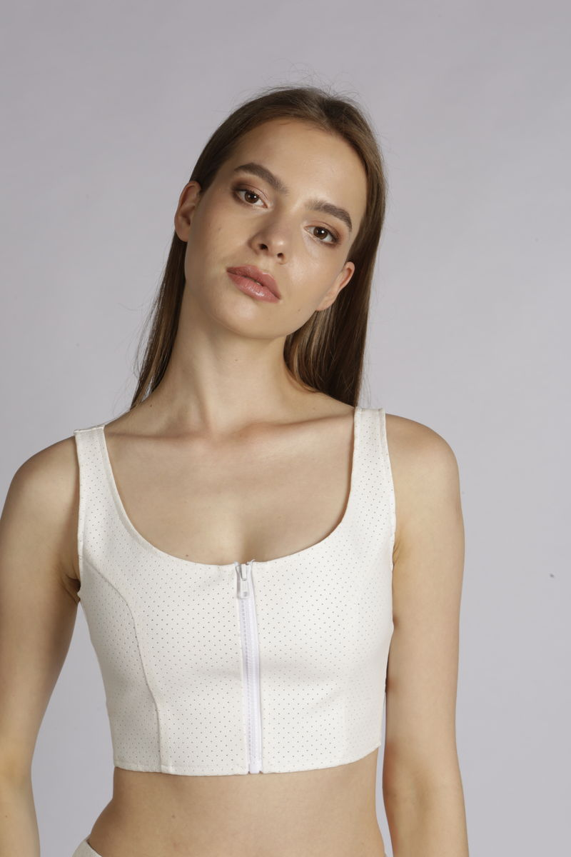 Gina Leatherette Crop Top  - product images  of