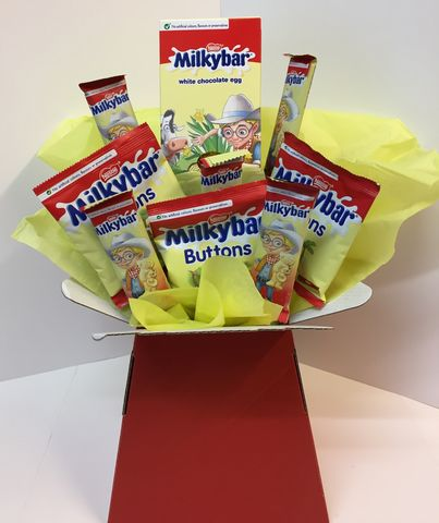 Milky,Bar,chocolate,Bouquet,Milky bar chocolate Bouquet, Easter bouquet, chocolate bouquet Tonbridge
