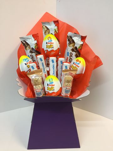 Kinder,Chocolate,Bouquet,Chocolate bouquet, Easter chocolate, Bouquet collection Tonbridge, Kinder chocolate bouquet