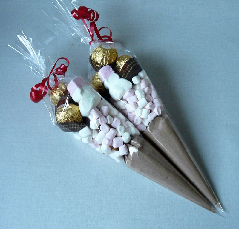 Adult hot chocolate cones - product images