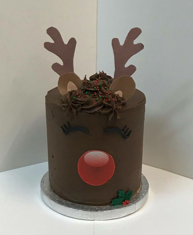 Tall chocolate reindeer cake - product images  of