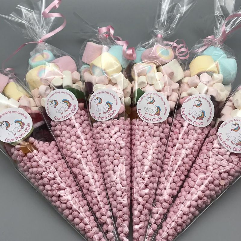 Pink Unicorn themed sweet-cones - product images  of
