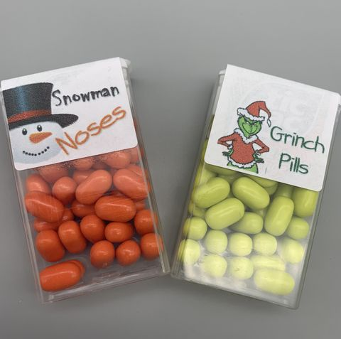 Snowman,noses,and,grinch,pills,snowman noses, grinch pills