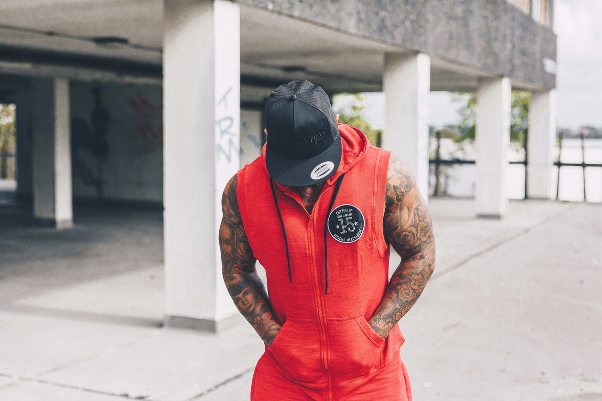 great deals picked up On Clearance MELANGE CUSTOM SLEEVELESS HOODIE - Cutting Up gym apparel