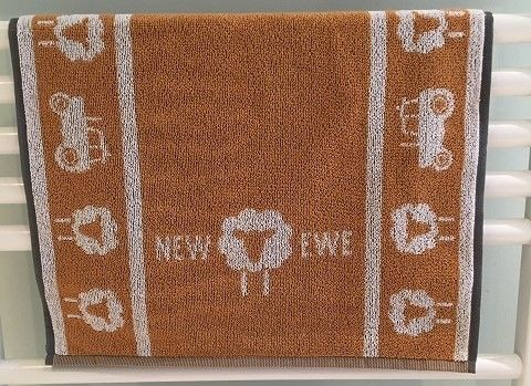 NEW,EWE,Hand,Towel,-,Citrus,Bronze, hand towel, cotton,