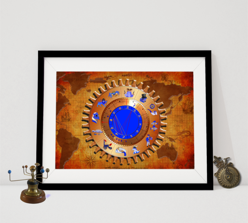 World Traveller Astrological Chart  - product image