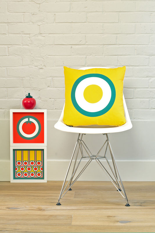 Screen printed cushion cover - Fried egg - product image