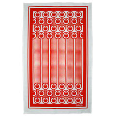 Cotton tea towel - tomatoes pattern - product images 1 of 3