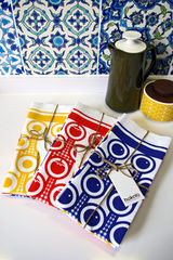 Cotton tea towel - tomatoes pattern - product images 3 of 3