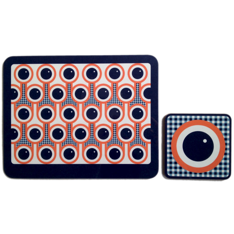 coaster & placemat set - Blueberries - product image