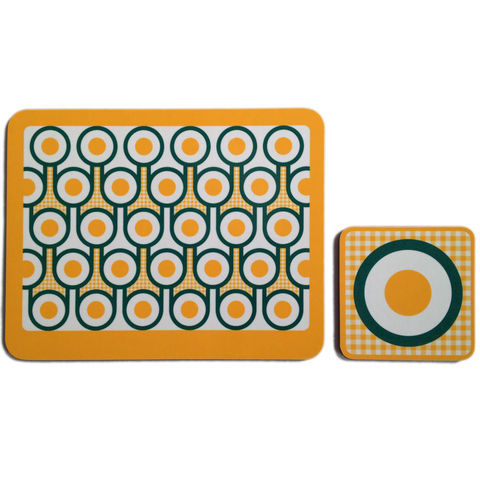 coaster,&,placemat,set,-,Fried,Eggs,coaster placemat set, fried egg pattern coaster placemat, graphic design, mother's day gift, housewarming gifts, homeware, tableware, english breakfast