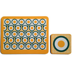 coaster & placemat set - Fried Eggs - product images 1 of 2