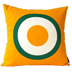 Screen printed cushion cover - Fried egg - product images 1 of 5