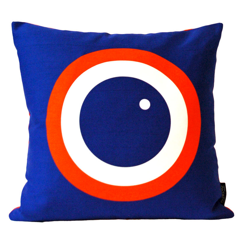 Screen printed cushion cover - Blueberry - product image