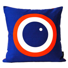 Screen printed cushion cover - Blueberry - product images 1 of 4