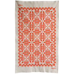 Cotton tea towels - crown orb pattern orange - product images 1 of 4