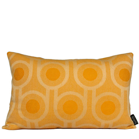 Benedict,Dawn,Large,Repeat,cushion,30x45cm,woven wool cushion, woven wool pillow, bold pattern cushion pillow, graphic cushion pillow, interior design, housewarming gifts, homeware, home accessories, mid century modern, yellow cushion pillow, gold cushion pillow, geometric cushion pillow