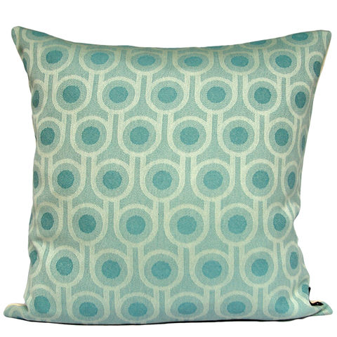 Benedict,Blue,Small,Repeat,cushion,45x45cm,woven wool cushion, woven wool pillow, bold pattern cushion pillow, graphic cushion pillow, interior design, housewarming gifts, homeware, home accessories, mid century modern, blue cushion pillow, teal cushion pillow, geometric cushion pillow