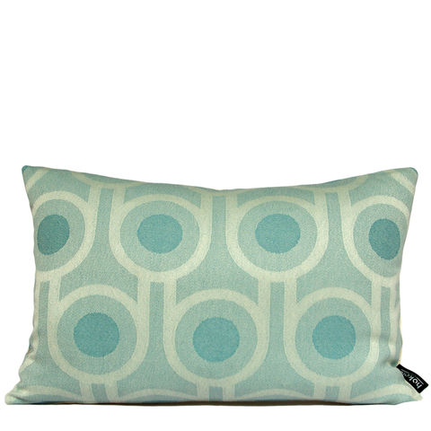 Benedict,Blue,Large,Repeat,cushion,30x45cm,woven wool cushion, woven wool pillow, bold pattern cushion pillow, graphic cushion pillow, interior design, housewarming gifts, homeware, home accessories, mid century modern, blue cushion pillow, teal cushion pillow, geometric cushion pillow