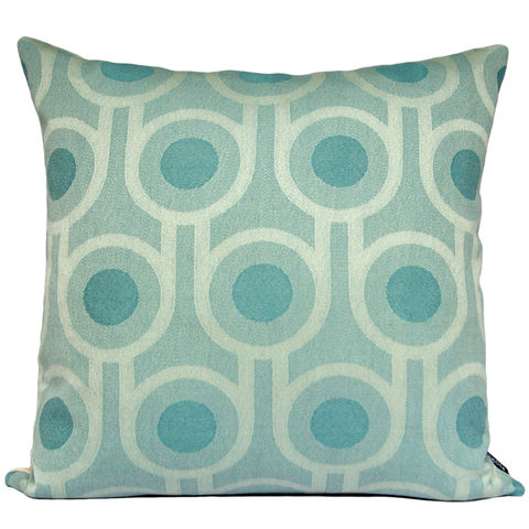 Benedict,Blue,Large,Repeat,cushion,45x45cm,woven wool cushion, woven wool pillow, bold pattern cushion pillow, graphic cushion pillow, interior design, housewarming gifts, homeware, home accessories, mid century modern, blue cushion pillow, teal cushion pillow, geometric cushion pillow