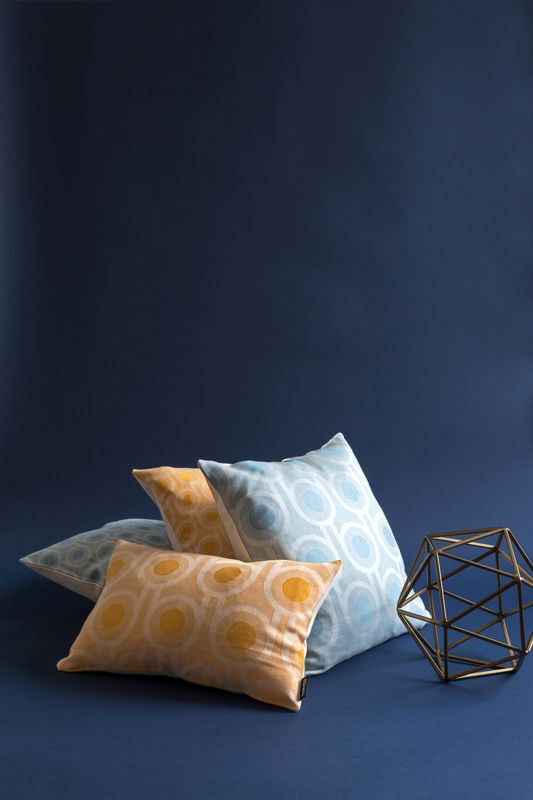 Benedict Blue Large Repeat cushion 45x45cm - product image