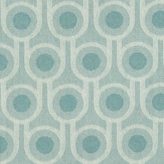 Benedict Blue Small Repeat woven wool fabric - product images 1 of 4