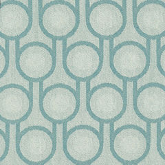 Benedict Blue Small Repeat woven wool fabric - product images 2 of 4