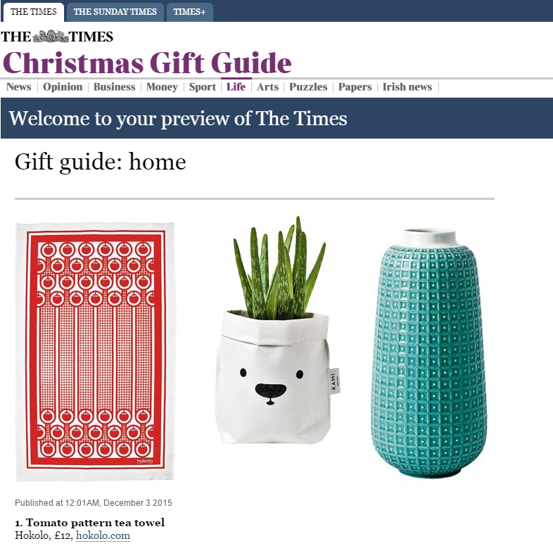 The Times Christmas Gift Guide