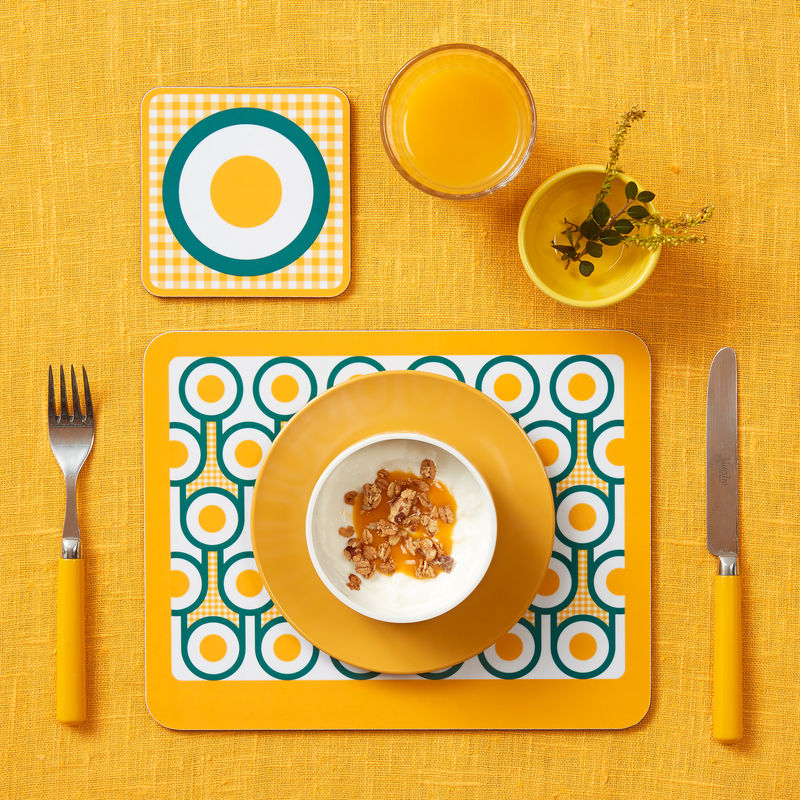 coaster & placemat set - Fried Eggs - product image